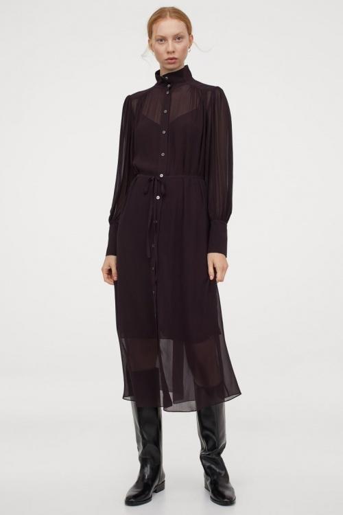 H&M - Robe en soie mélangée