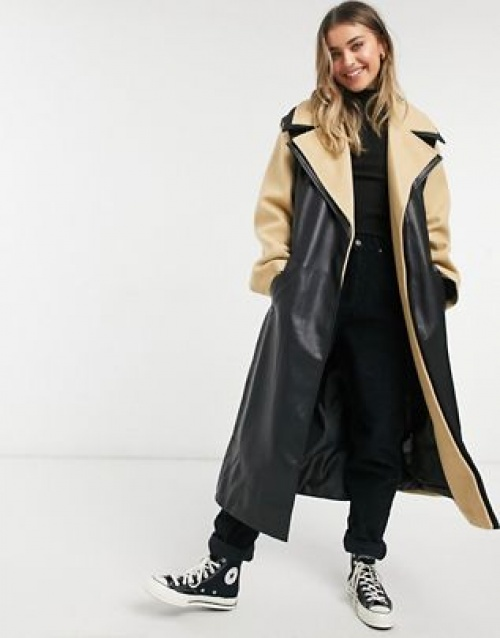 Asos DESIGN - Manteau trench