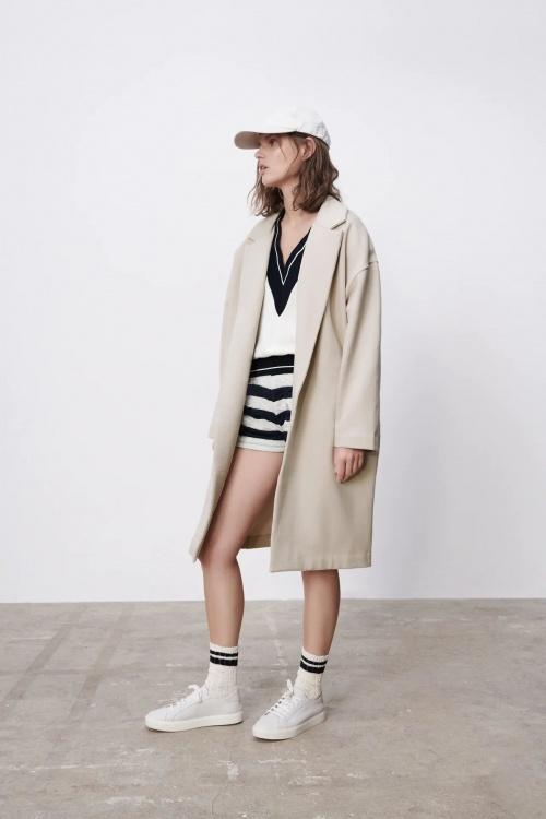 Zara - Manteau en molleton