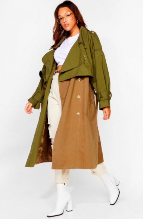 Nastygal - Trench bicolor