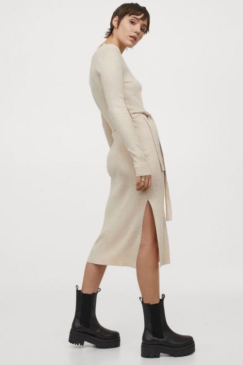 H&M - Robe en maille côtelé