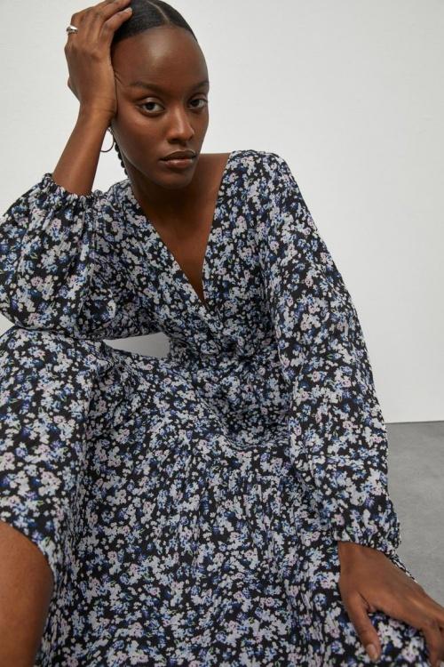 H&M - Robe longue portefeuille