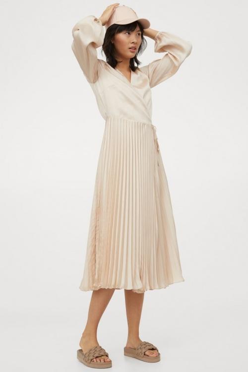 H&M - Robe portefeuille plissée