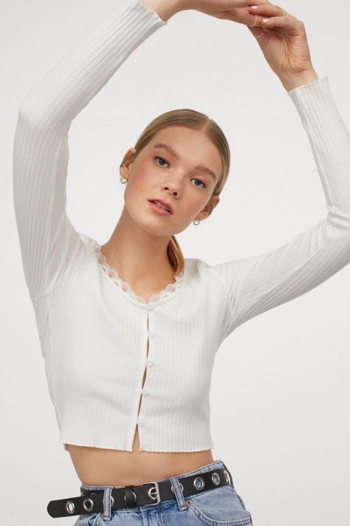 H&M - Top côtelé