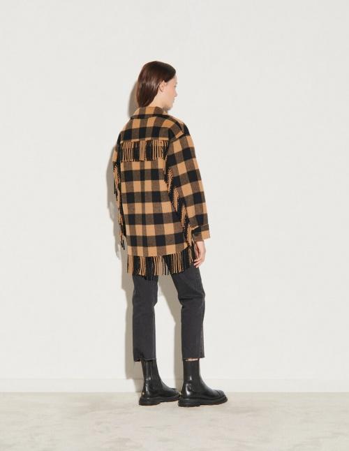 Sandro - Veste chemise oversize à carreaux
