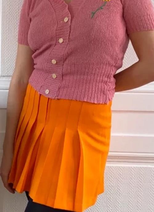 Rose Poudré - Mini jupe