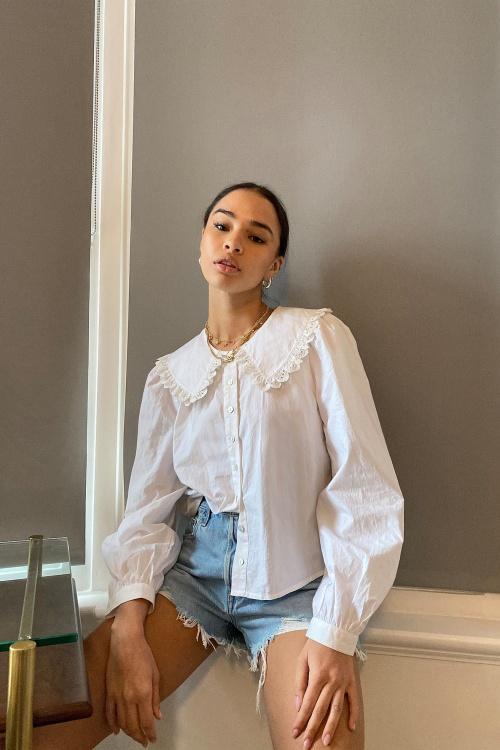 Urban Outfitters - Blouse col Claudine