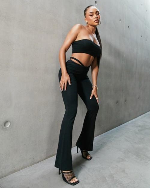 Asos - Pantalon taille basse avec liens sur les hanches