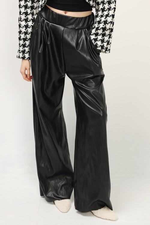 Storets - Pantalon fluide simili cuir