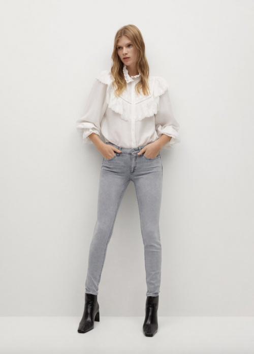 Mango - Jean skinny taille basse
