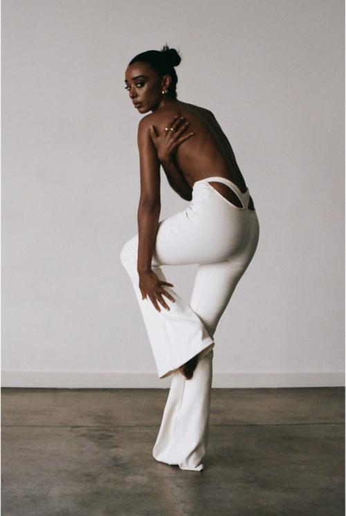 Subsurface - Pantalon flaire blanc