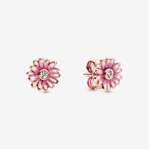Pandora - Clous d'oreilles Marguerite Rose