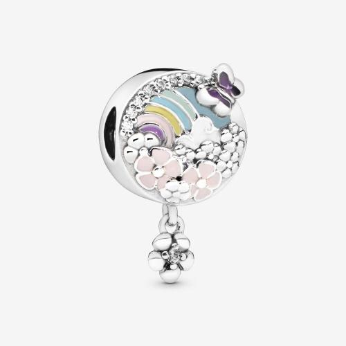 Pandora - Charm Pendant Arc-En-Ciel et Fleur
