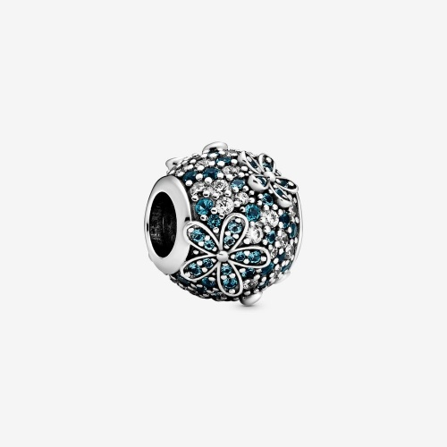 Pandora - Charm Marguerite Pavé Bleu-Vert