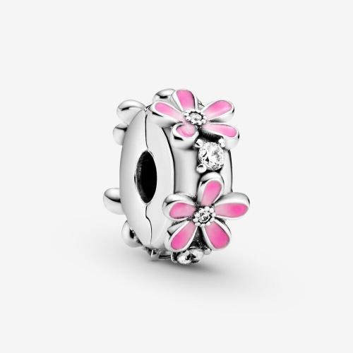 Pandora - Charm Clip Marguerites Roses