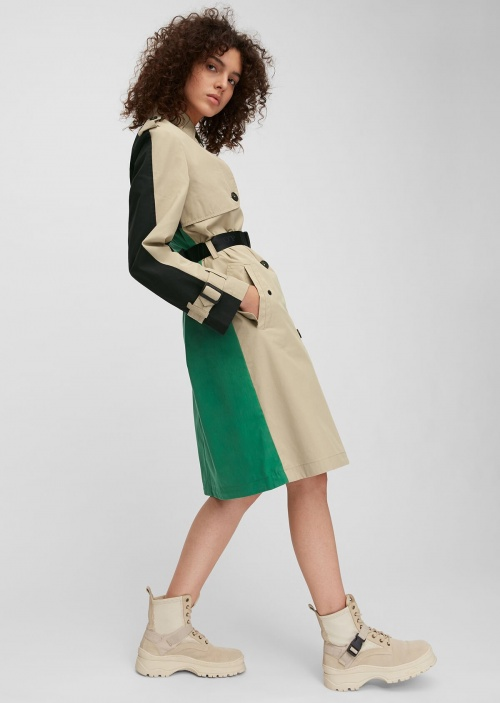 Marc O'Polo - Trench-coat en à-plats de couleurs