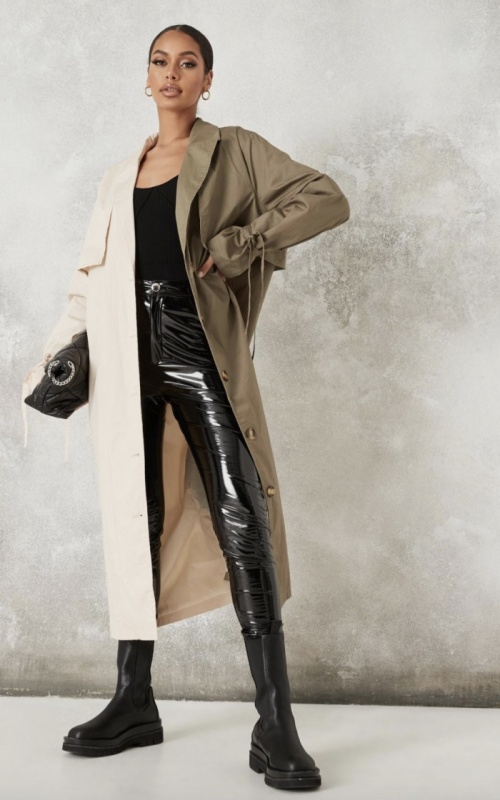 Missguided - Trench bicolore