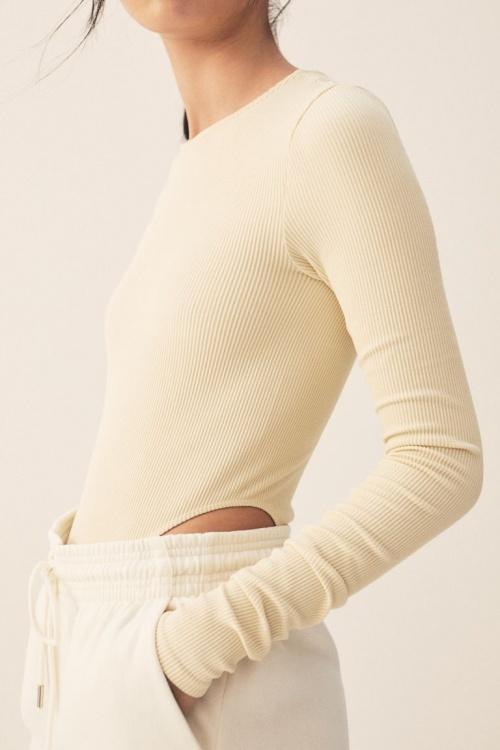 H&M - Body côtelé sans couture