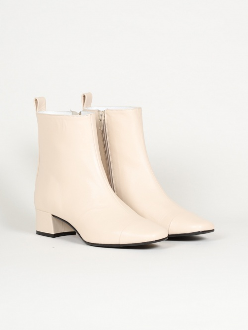 Carel - Bottines cuir ivoire