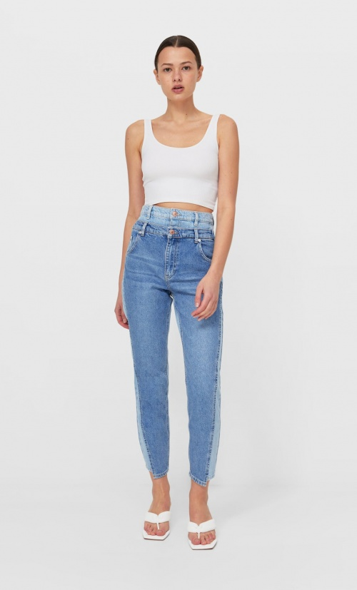 Stradivarius - Jean reworked à double taille