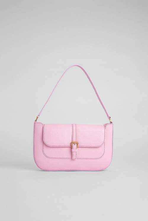 By Far - Sac en cuir grainé couleur Pivoine