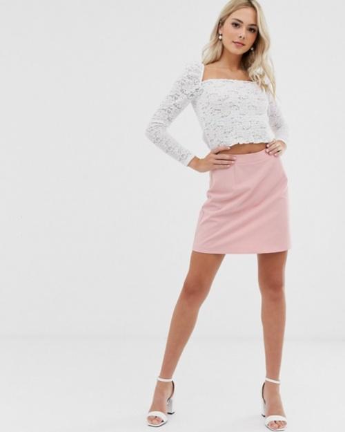 Asos - Mini jupe trapèze rose
