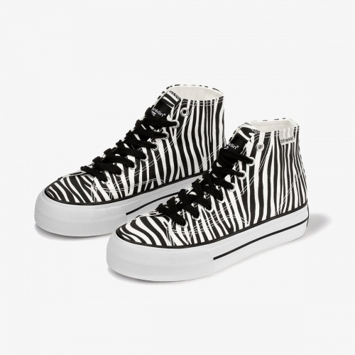 D.Franklin - Sneakers motif zèbre