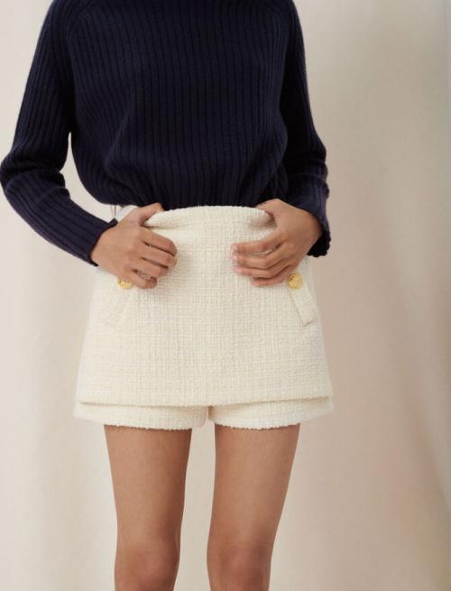 Maje - Short trompe l'oeil tweed