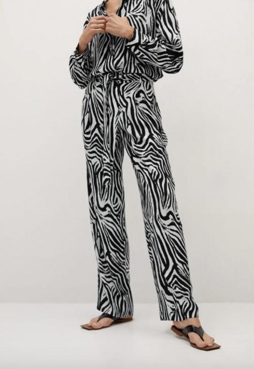 Mango - Pantalon motif zèbre