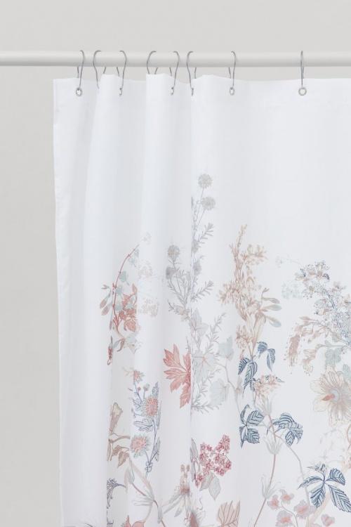 H&M Home - Rideau de douche fleuri