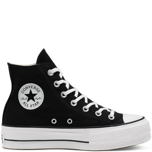 Converse - Sneakers noire montante plateforme