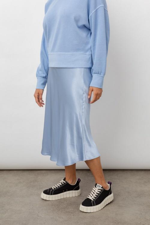Rails - Jupe en satin bleu