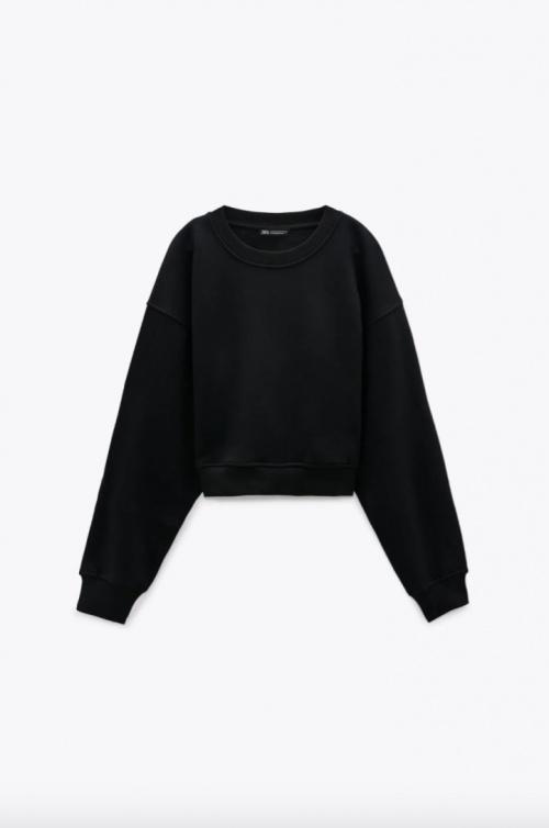 Zara - Sweat basic noir