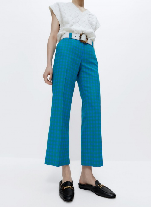 Uterque - Pantalon Vichy droit
