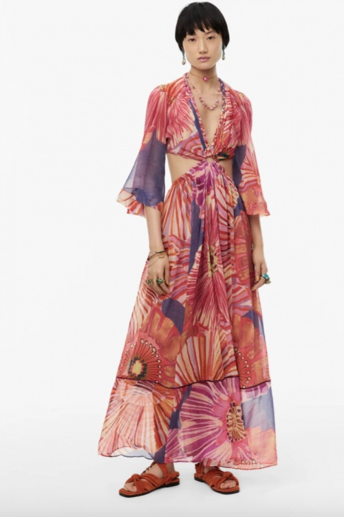Zara - Robe longue fleurie