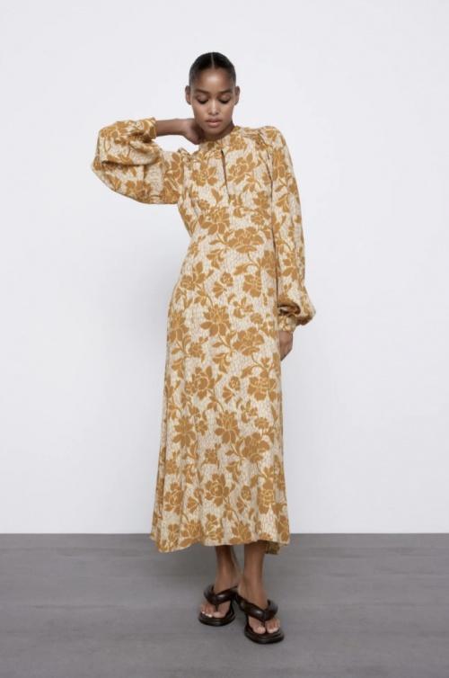 Zara - Robe longue à imprimé floral