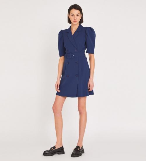 Finery - Robe courte bleu marine