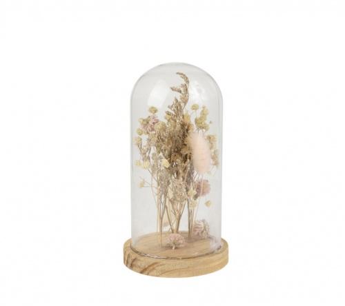 Fabrique de Style - Cloche de fleurs séchées