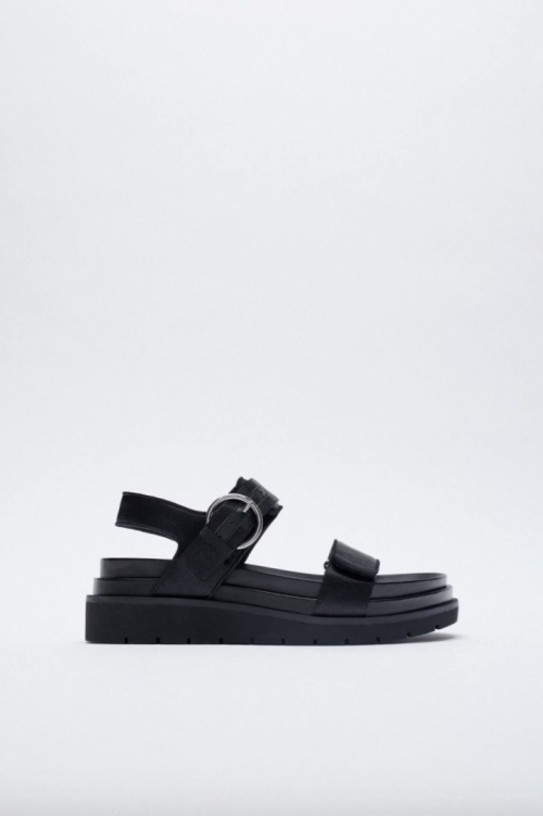 Zara - Sandales plates à plateforme