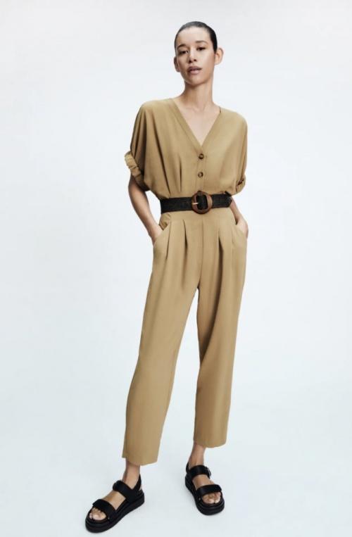 Zara - Combinaison longue avec ceinture