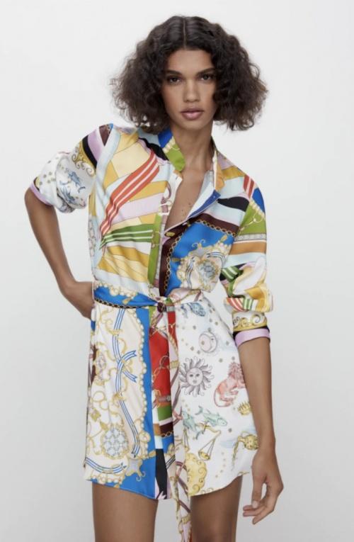 Zara - Robe à imprimé colorée