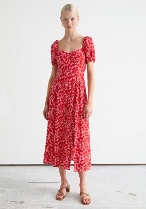 &Otherstories - Robe mi-longue à fleurs
