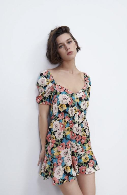 Zara - Robe à imprimé fleuri