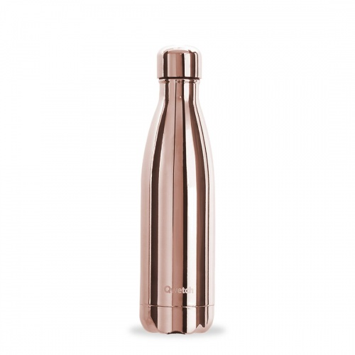 Qwetch - Bouteille metallic rose gold