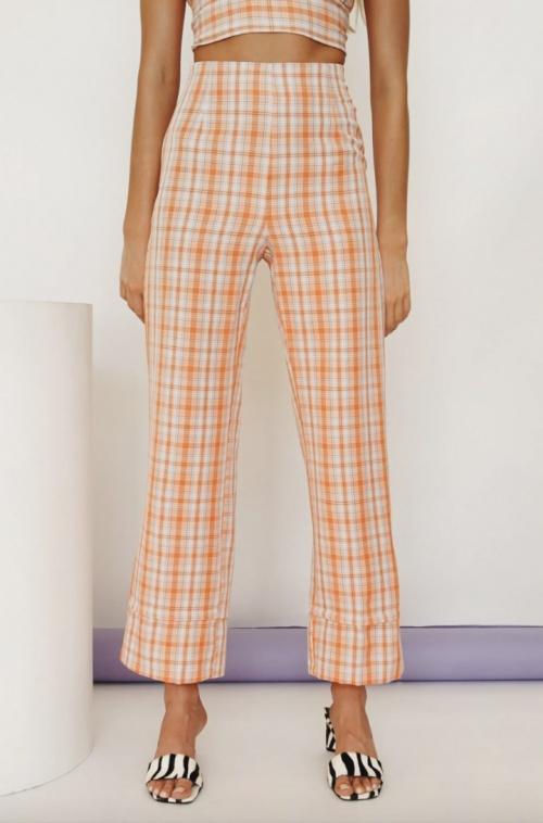 Verge Girl - Pantalon carreaux