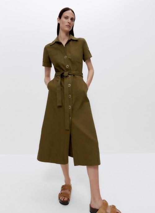 Uterqüe - Robe chemise jean
