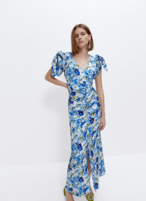 Uterqüe - Robe à imprimé floral
