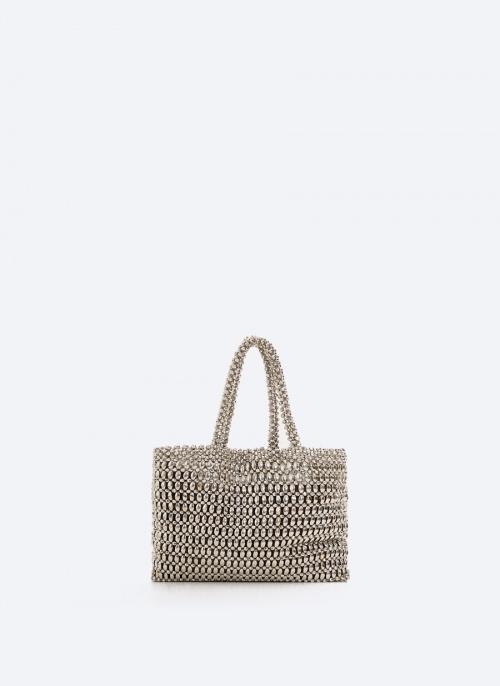 Uterqüe - Sac avec perles métalliques