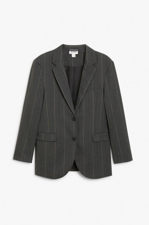 Monki - Blazer de tailleur rayé
