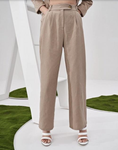 Shein - Pantalon rayé